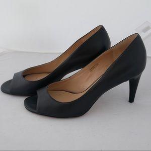 Via Spiga sz 7.5 black peeptoe heels